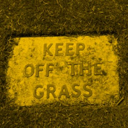 don't walk on the grass picture