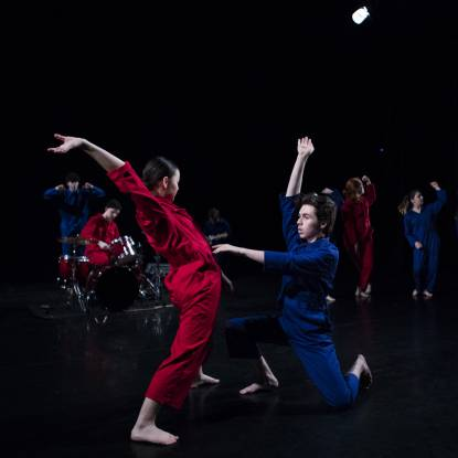 image of young dancers performing