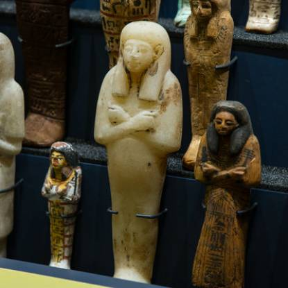 images of ceramic Egyptian shabti figures
