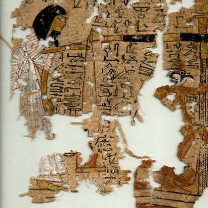 Image of ancient Egyptian papyrus from a book of the dead