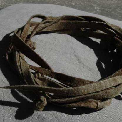 Felt art work in the shape of a thorn crown by Kate Keara Pelen 2009