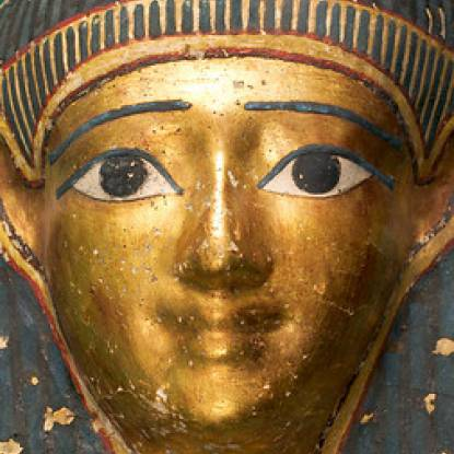 Image of gold cartonage mask