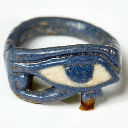 image of blue and white wedjet Egyptian eye