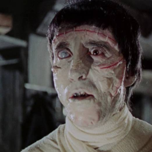 Colour photo of Frankenstein from the Hammer horror film 'Curse of Frankenstein'