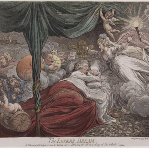 James Gillray, The Lover's Dream, 1795