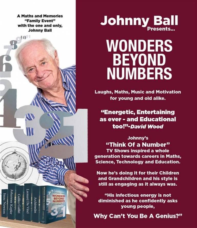 Johnny Ball Wonders Beyond Numbers leaflet
