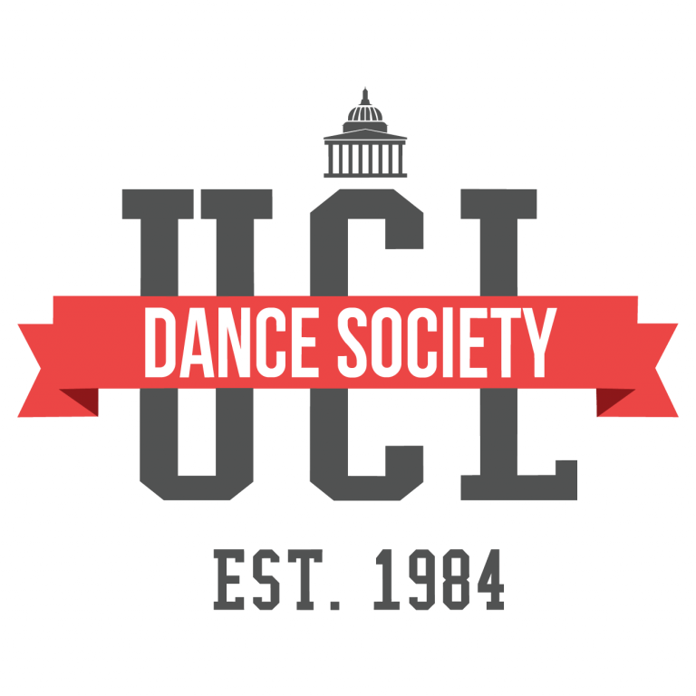 The UCL Dance Society Logo on a white background