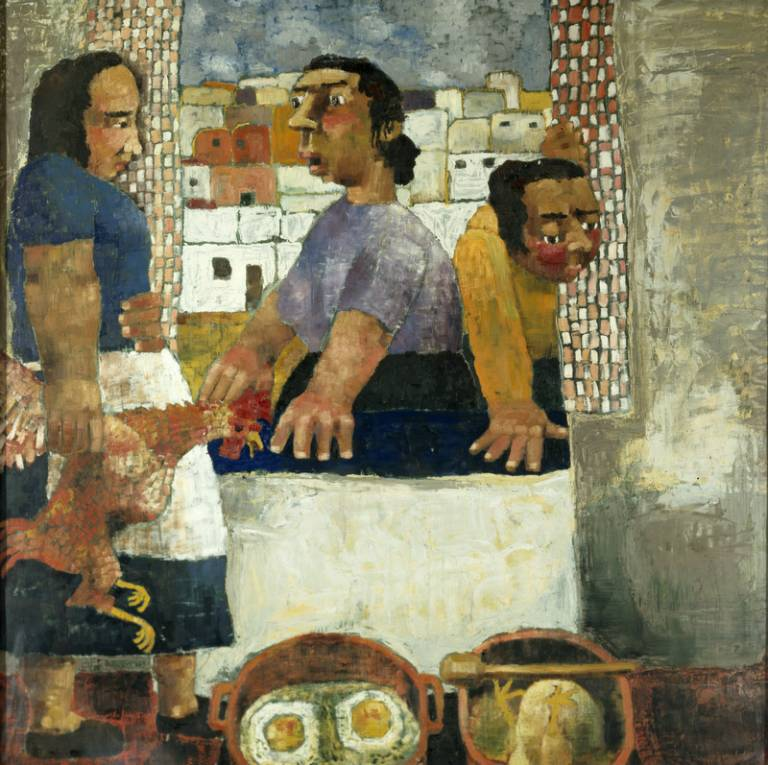 Paula Rego, Under Milk Wood, 1954, oil on canvas