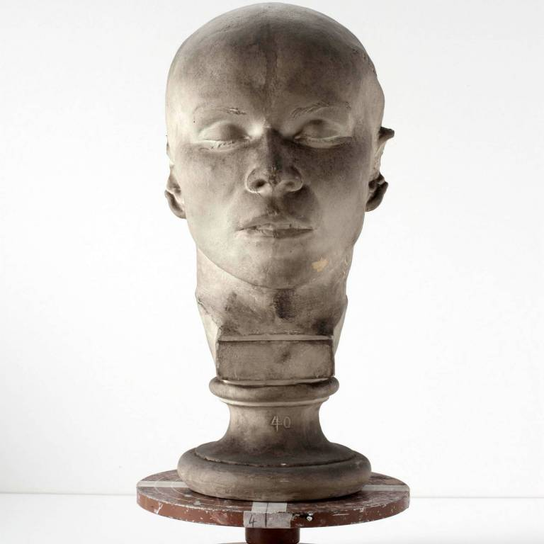 Death mask of a woman