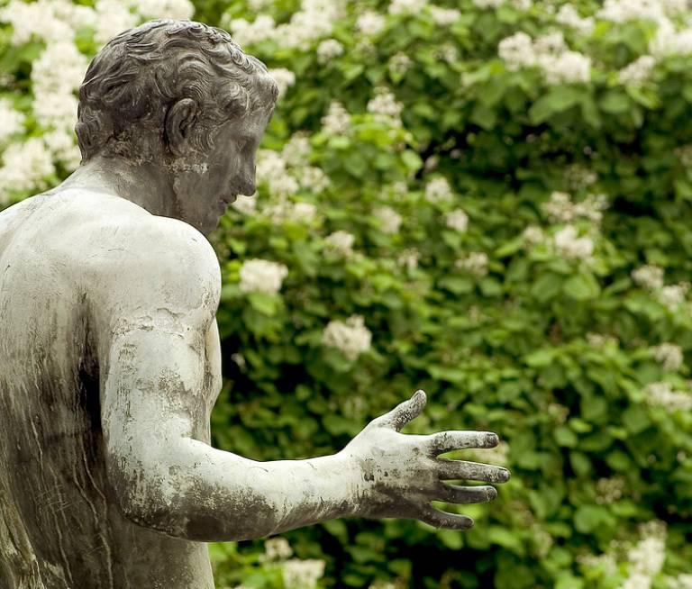 Front Portico sculpture