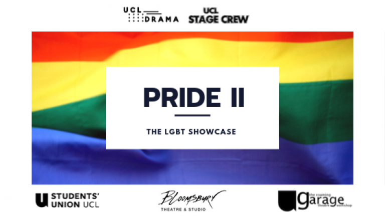 Pride flag with the words Pride 2, LGBT+ Showcase on top