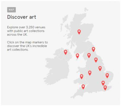 Art UK map