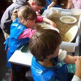 Children doing museum activity