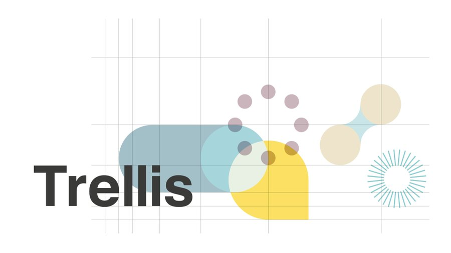 trellis logo with blue and yellow shapes and the word 'trellis' in black lettering.