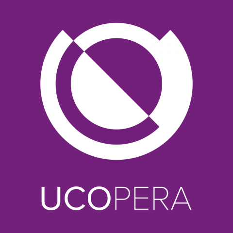 Purple logo of UCOpera