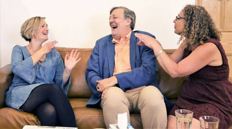 Dr Kate Rowley, Stephen Fry and BSL Interpreter