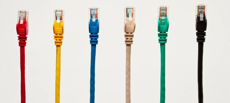 colourful networking cables