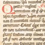 Fragment of medieval manuscript