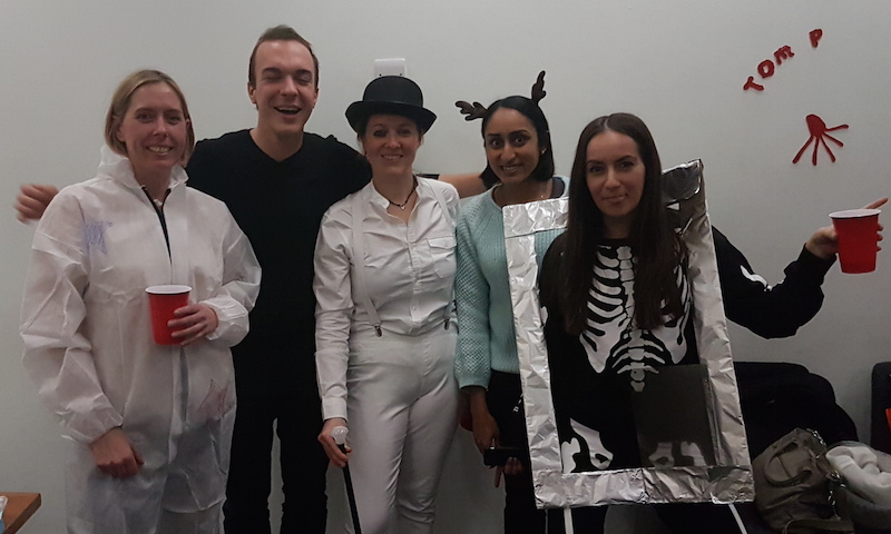The Jolly lab at the Towers lab Halloween party