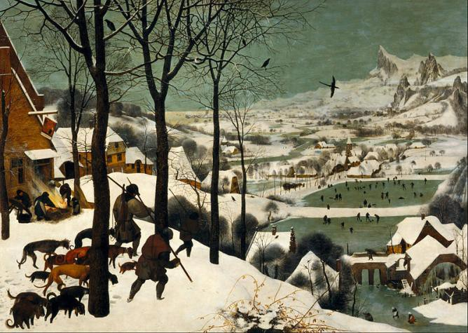 Pieter Bruegel, The Elder Hunters in the Snow Winter