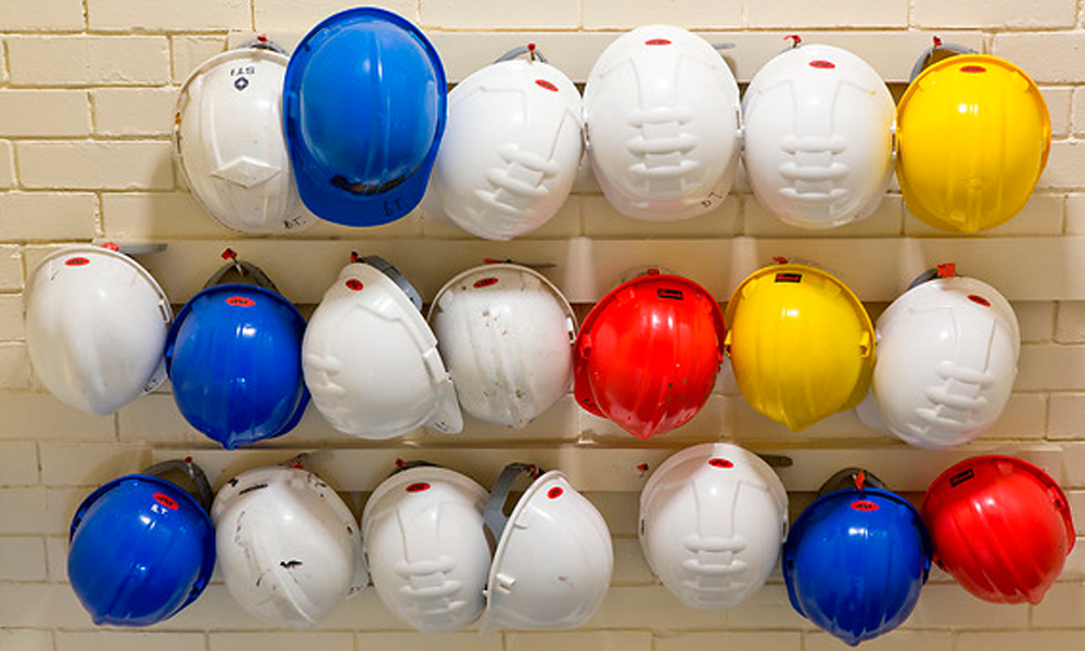 Image of safety hats