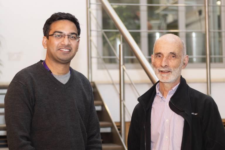 Rajan Shrivastava and Jonathan Ashmore pictured together.