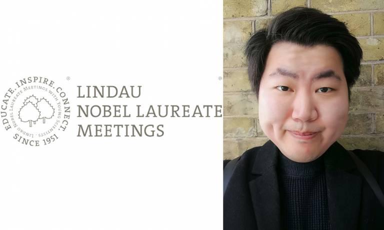 Gary Huang picture and Lindau Nobel Laureate logo