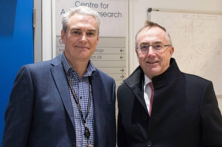 Professor Jonathan Gale and Professor Michael Arthur UCL Provost