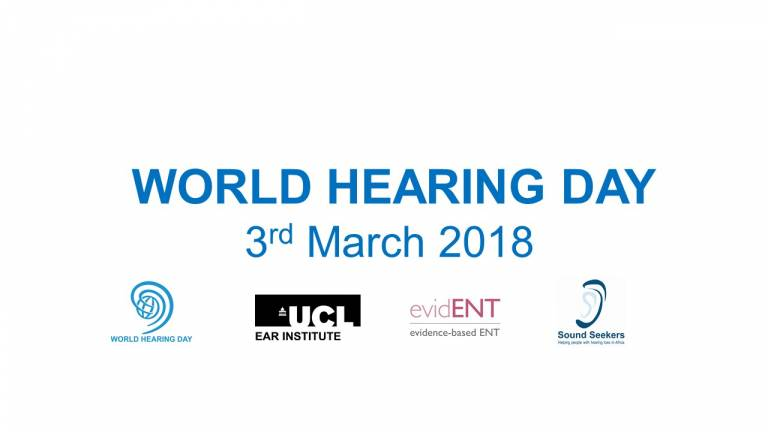 World hearing Day banner