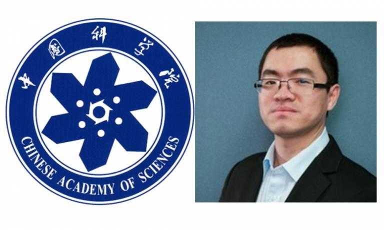Chinese Academy of Sciences logo and Zhiyong Liu profile image