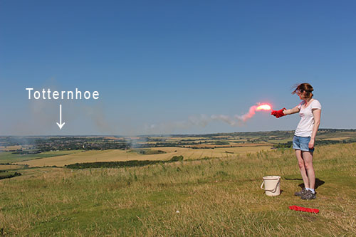 Flares lit on Invinghoe beacon