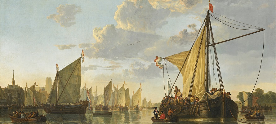 The Maas at Dordrecht by Aelbert Cuyp, early modern events