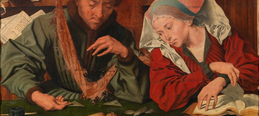 The Moneychanger and His Wife by Quentin Matsys.