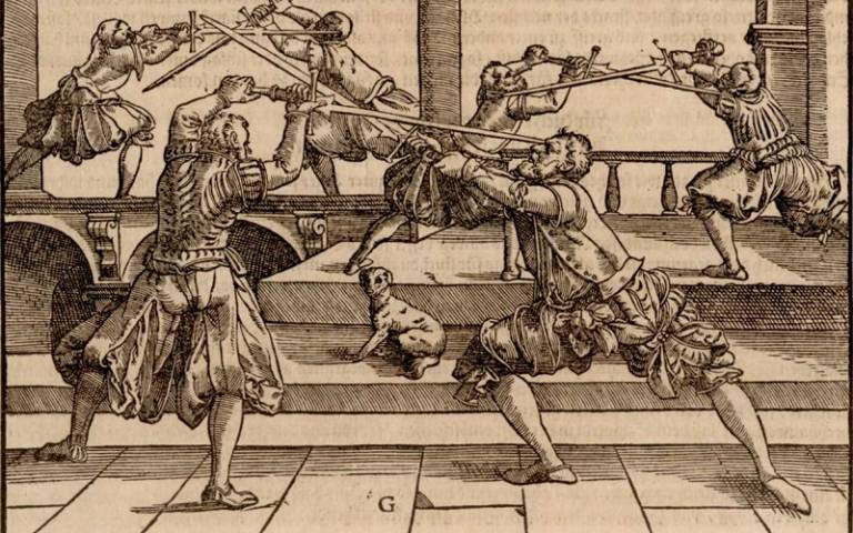 Image from Joachim Meyer's 'Thorough description of the art of fencing'