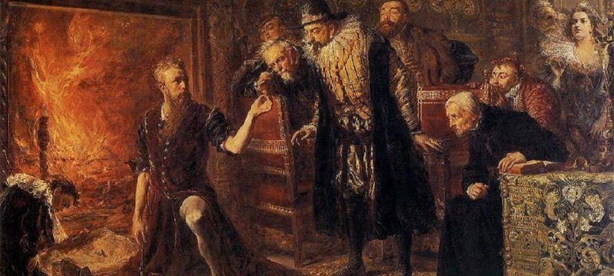 Alchemist by Jan Matejko, early modern research