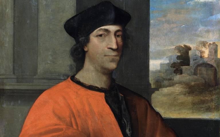 Portrait of Cardinal Antonio Maria Ciocchi del Monte (c. 1512-15), detail, National Gallery of Ireland, Dublin