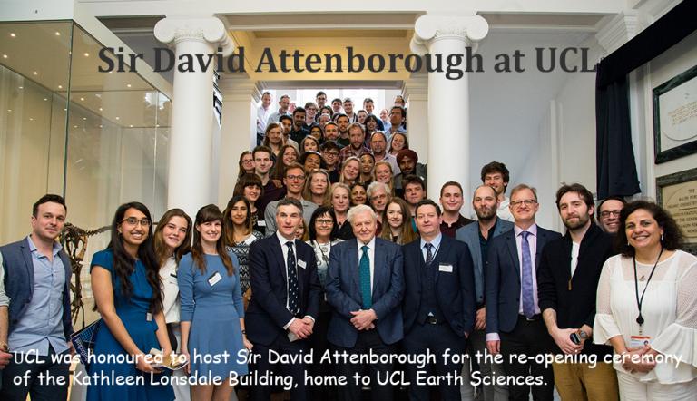 Sir David Attenborough at UCL