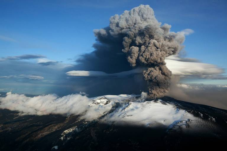 An eruption at Eyjafjallajokull in April 2010 sent a huge ash cloud across Europe