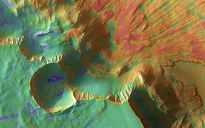 Noctis Landslide  Credit NASA/JPL-Caltech/University of Arizona/HI-RISE