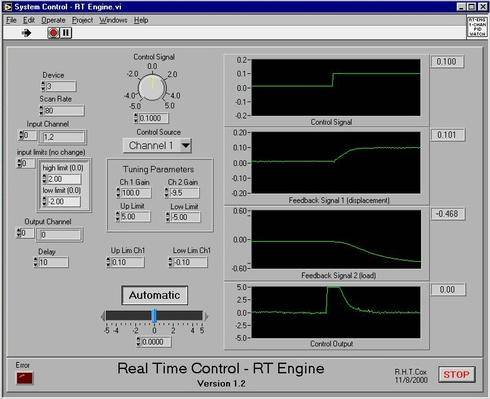 The 'RT Engine' program which is downloaded to the RT board