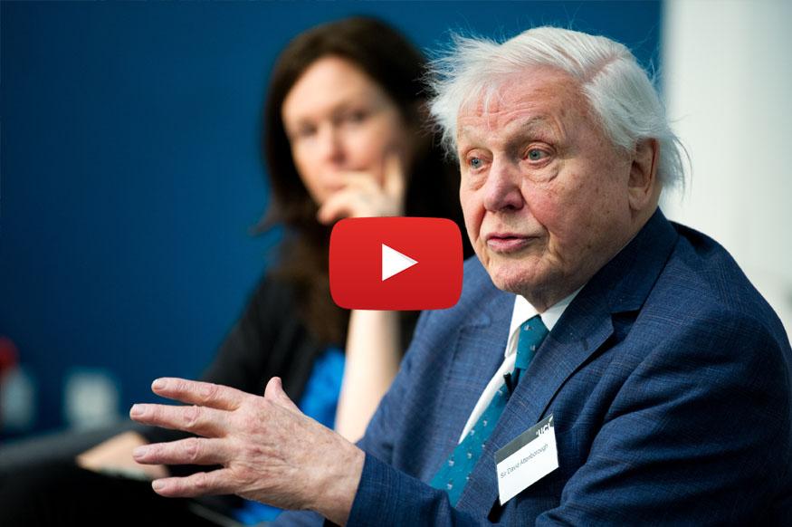 David Attenborough Visit to UCL - Kathleen Lonsdale Reopening