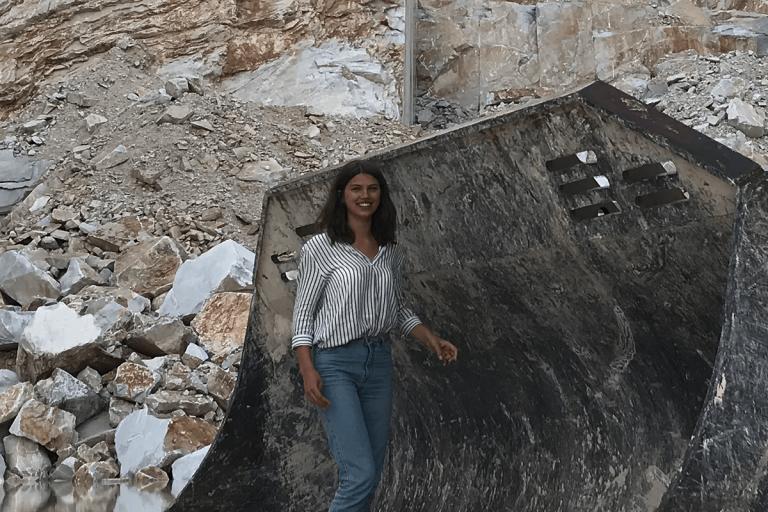 Isabelle Hoppe inside a quarry