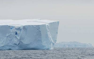 Icebergs in the Southern Ocean offshore of East Antarctica