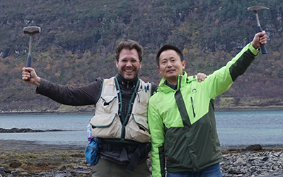 , Dr. Dominic Papineau and visiting professor Zhenbing She
