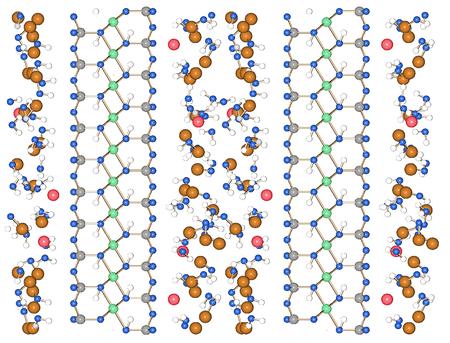 A molecular simulation view of a clay-methane hydrate