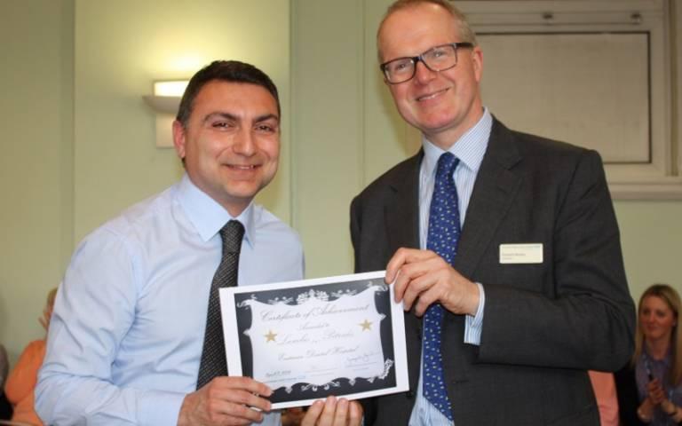 Dr Petridis received award
