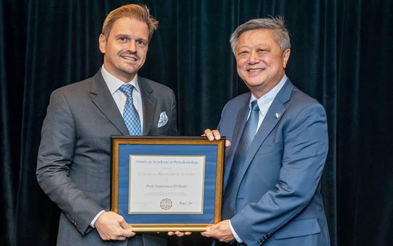 Professor D'Aiuto receives the Clinical Research Award