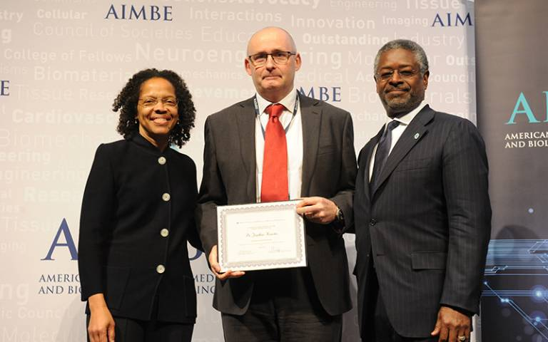Professor Jonathan Knowles inducted into the AIMBE College of Fellows