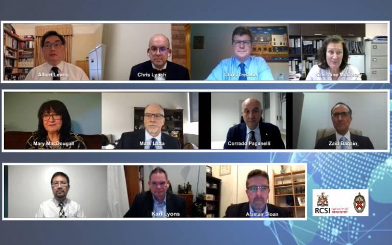 Chair and presenters RCSI webinar July 2020