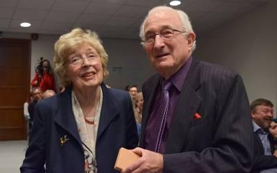 Mrs Kramer and Professor Malcolm Harris